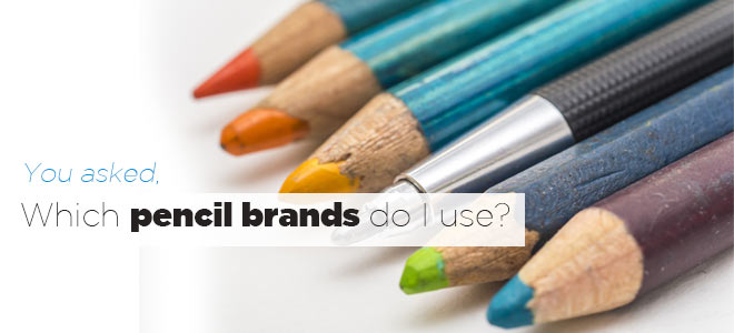 Article: Which pencil brands do I use?